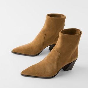 NWT Zara Split Leather